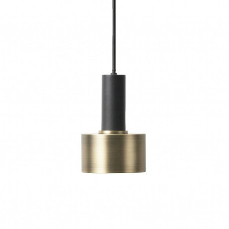 Ferm Living Hanglamp Disc low brass goud zwart metaal