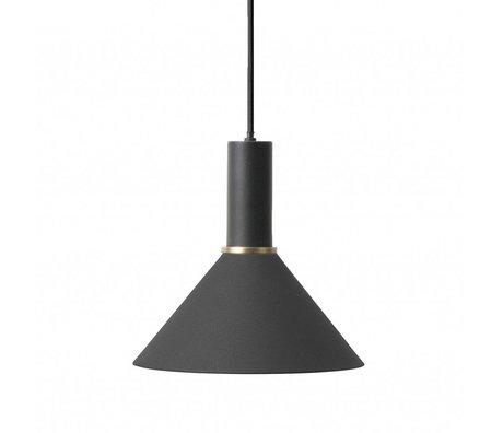 Ferm Living Hanglamp Cone low zwart metaal