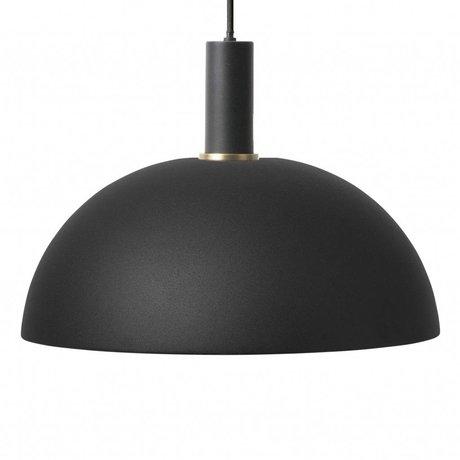 Ferm Living Hanglamp Dome low zwart metaal