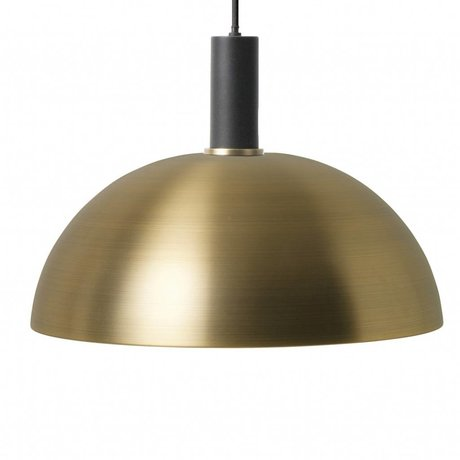Ferm Living Hanglamp Dome low brass goud zwart metaal