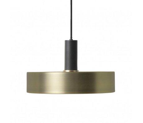 Ferm Living Hanglamp Record low brass goud zwart metaal