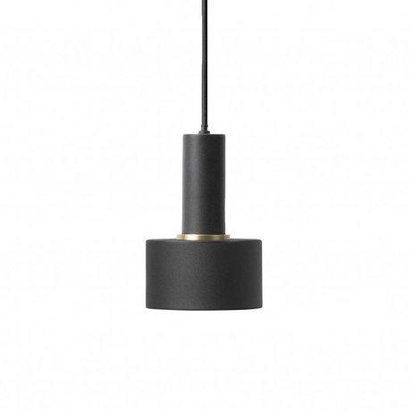 Ferm Living Hanglamp Disc low zwart metaal