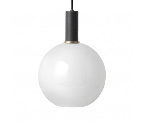 Ferm Living Hanglamp opal Sphere glas zwart metaal