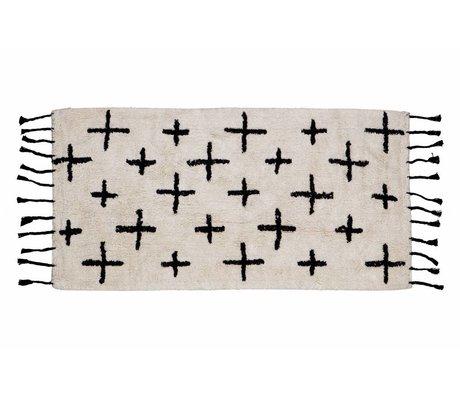 BePureHome Plus Tapis de 70x140cm en coton blanc