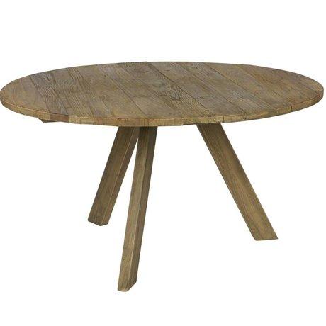 BePureHome Salle à manger Tondo bois brun naturel Ø140x76cm