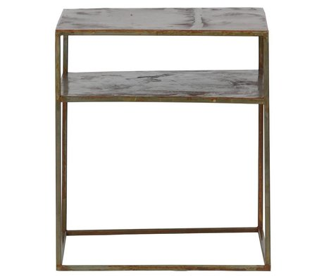 BePureHome Side table Welldone rust orange metal 45x40x40cm