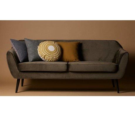 LEF collections Bank Rocco Sofa warmen grünen Samt Polyester 75x187x82cm