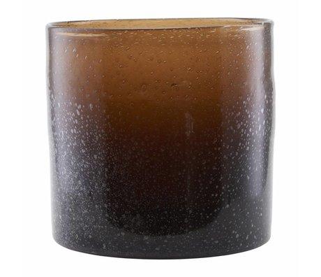 Housedoctor Vaas Blown bruin glas 30x30cm