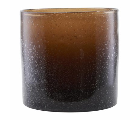 Housedoctor Vase Blown brown glass 30x30cm