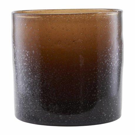 Housedoctor Mundgeblasenes Glas Vase braun 30x30cm