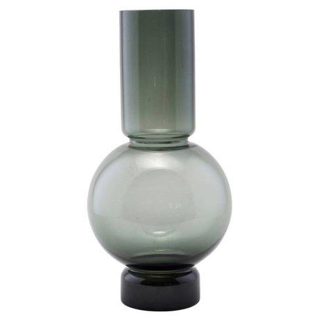 Housedoctor vase en verre de bulle de gris 17,5x35cm