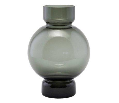 Housedoctor vase en verre de bulle de gris 17,5x25cm