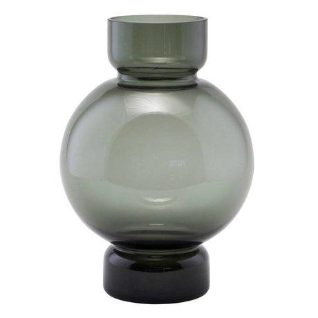 Housedoctor Vaas Bubble grijs glas 17,5x25cm