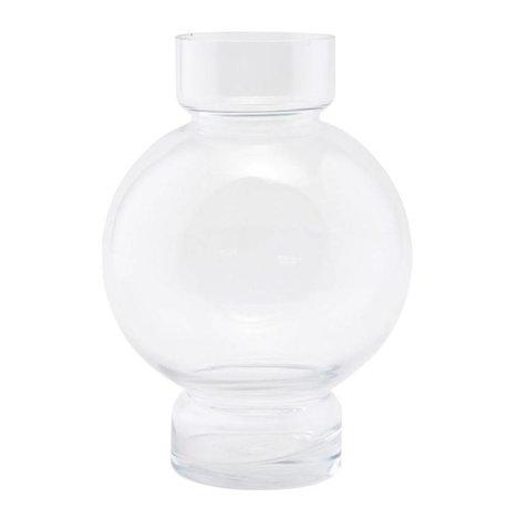 Housedoctor vase en verre Bubble 17,5x25cm