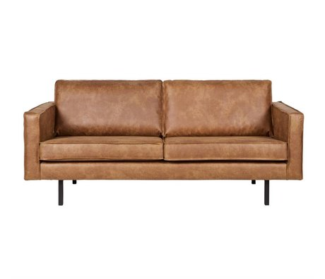 BePureHome Bank Rodeo 2,5 places 190x86x85cm en cuir brun cognac