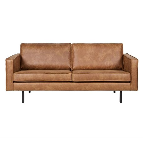 BePureHome Sofa Rodeo 2.5-seat cognac brown leather 190x86x85cm