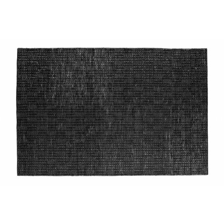 BePureHome Scènes tapis doux toile de jute noir 170x240cm