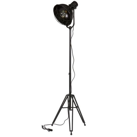 BePureHome Floor Lamp prized black metal 167x54x45cm