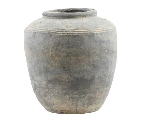 Housedoctor Vase Rustik concrete look earthenware 23x27cm