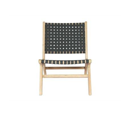 vtwonen Chaise de jardin Cadre gris anthracite bois 78x59x71cm
