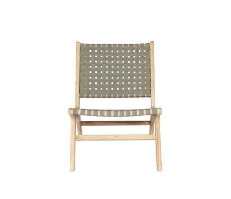 vtwonen Chaise de jardin Cadre bois vert olive 78x59x71cm