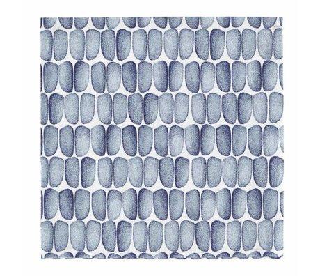 Housedoctor Servetten met print blauw wit papier 33x33cm
