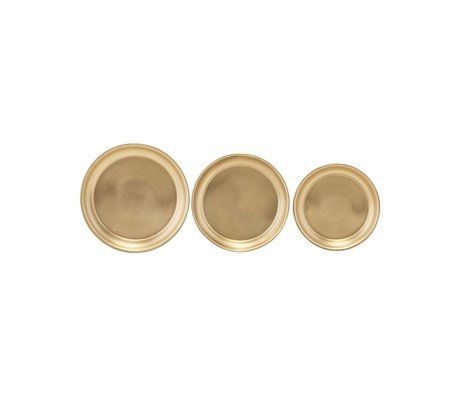 Housedoctor Tray copper finish steel set of 3