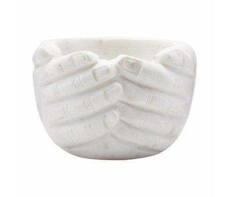 Housedoctor Bol à mains en marbre 15x15x10cm