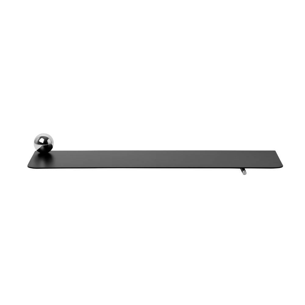 Wandplank Zwart Metaal.Ferm Living Wandplank Sphere Zwart Chrome Metaal 60x17 5x3 8cm