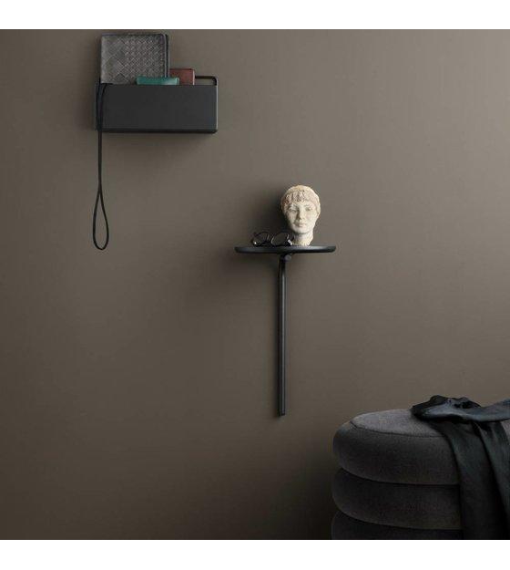 Wandplank Zwart Metaal Hout.Ferm Living Wandplank Pujo Zwart Metaal Hout O25x42 5cm Wonenmetlef Nl