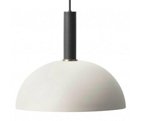 Ferm Living Hanglamp Dome high licht grijs zwart metaal