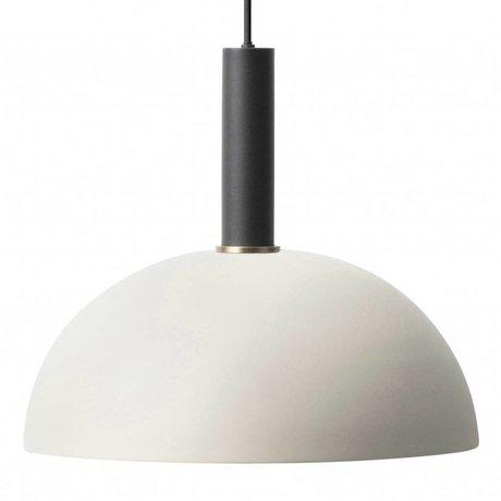 Ferm Living Suspension dôme haute lumière métal noir gris