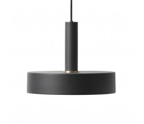 Ferm Living Record lampe pendentif en métal noir