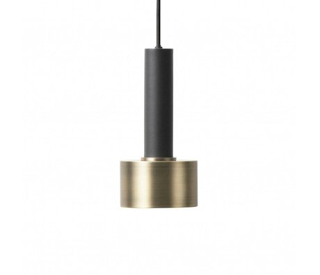 Ferm Living Hanging lamp Disc high brass gold black metal