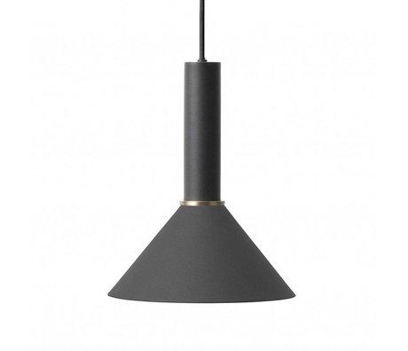 Ferm Living Hanglamp Cone high zwart metaal