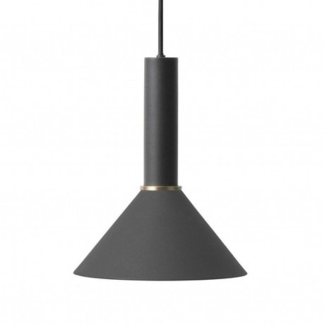 Ferm Living Cone Hängelampe hohe schwarzes Metall