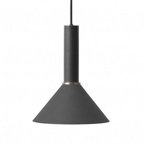 Ferm Living Cône lampe suspendue haute en métal noir