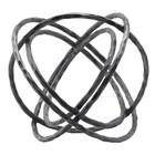 Housedoctor Ornament Ball black iron 35x27cm
