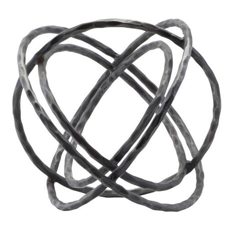 Housedoctor Ornament Ball zwart ijzer 35x27cm