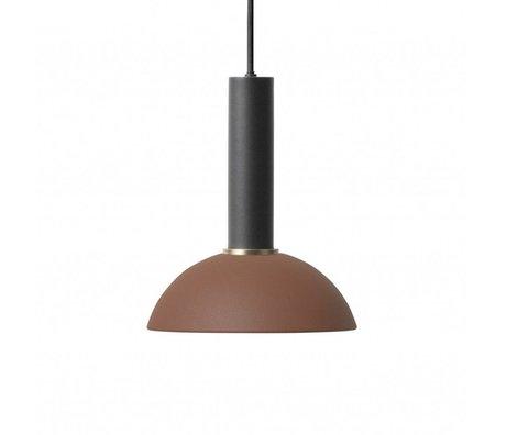 Ferm Living Hanglamp Hoop high rood bruin zwart metaal