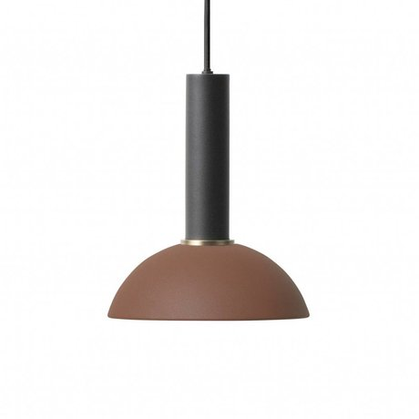Ferm Living Espoir lampe pendentif haut métal noir rouge brun