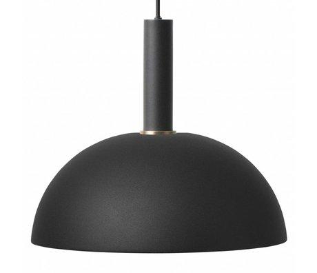 Ferm Living Hanglamp Dome high zwart metaal