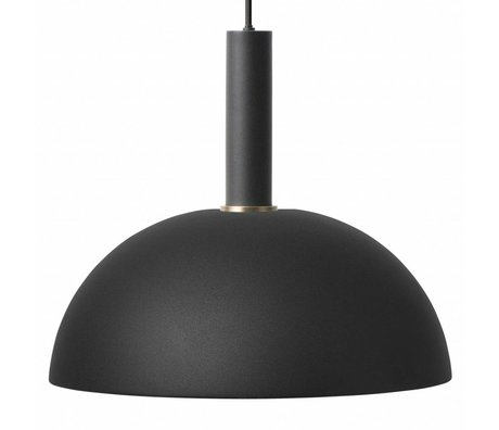 Ferm Living Suspension Dome haut métal noir