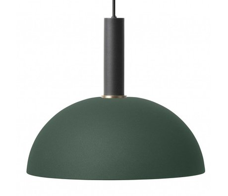 Ferm Living Hängeleuchte Dome hoch dunkelgrün schwarz Metall