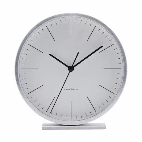 Housedoctor Horloge de table Hannah argent aluminium 15cm
