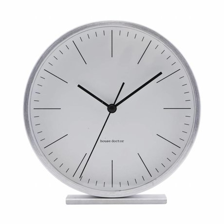 Housedoctor Table clock Hannah silver aluminum ¯15cm