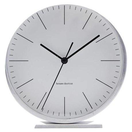 Housedoctor Tableau horloge aluminium argenté Hannah ¯ 9,20