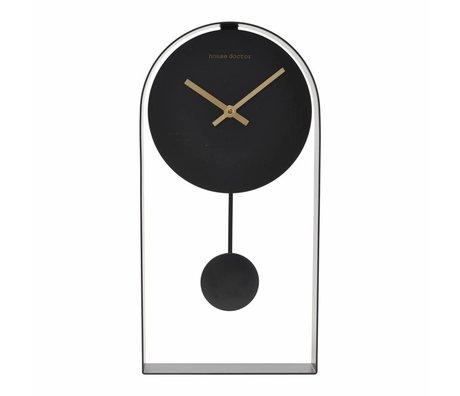 Housedoctor Clock Art schwarzer Stahl 19x5,5x39,5cm