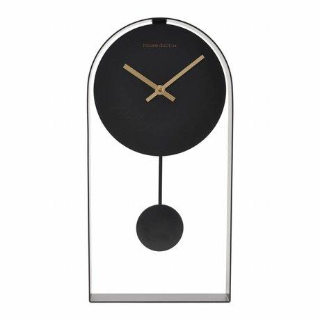 Housedoctor Horloge Art acier noir 19x5,5x39,5cm