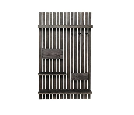 Ferm Living Wandrek Multi zwart hout 59x12,5x99,7cm